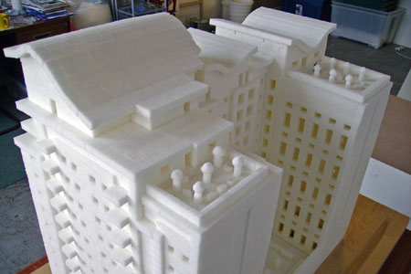 Sugar Walk, a model of Belfast apartment block made entirely from sugar
